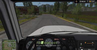 ГАЗ-3309 АТЗ-4,9 вид из кабины