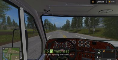 United Semi Truck & Trailer вид с кабины
