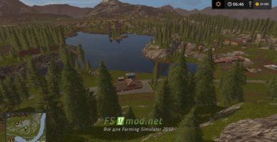 Пейзаж карты