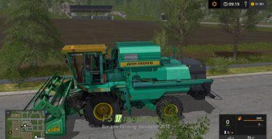Мод на ДОН 1500Б для игры Симулятор Фермера 2017