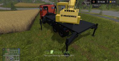 Мод на КАМАЗ 6520-73 Кран Ивановец для игры Farming Simulator 2017