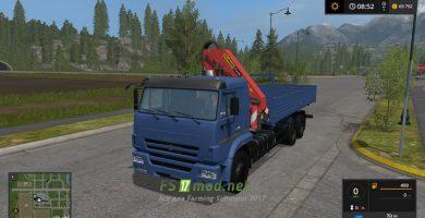 Мод на КАМАЗ-65117 с КМУ