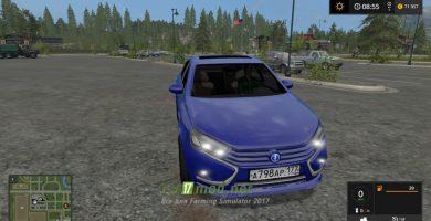 Автомобиль Лада-Веста для игры Фермер симулятор 2017