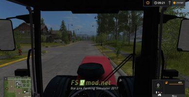 Беларус-3022ДЦ вид с кабины