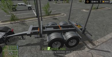 Мод на прицеп Biobeltz tandem timber trailer TLT 500 для FS 2017