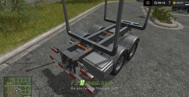 Biobeltz tandem timber trailer TLT 500