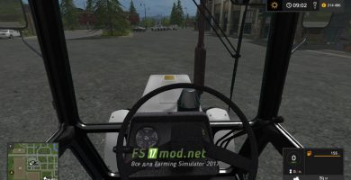 МТЗ 1025 вид с кабины