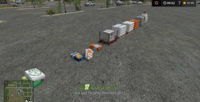 bags pack fertilizer, seed, pig food