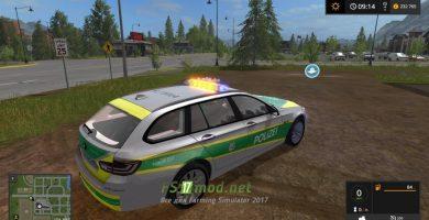 Автомобиль BMW 530 Polizei Bayern для игры Фермер Симулятор 2017