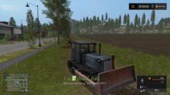 Трактор ДТ-54 и отвал для Farming Simulator 2017
