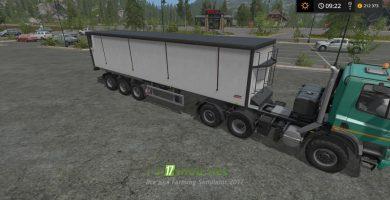 Мод на прицеп Kroger Agroliner SRB35 для игры Фарминг Симулятор 2017
