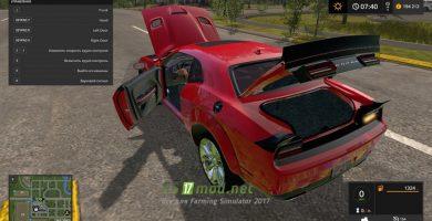 Автомобиль Dodge Challenger Srt Hellcat (LC) для игры Farming Simulator 2017.