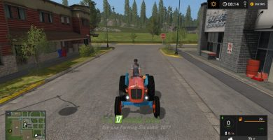 Трактор Lamborghini 1R для игры