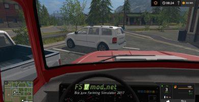 ЗИЛ-ММЗ-45085 вид с кабины