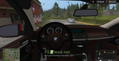 BMW X6 вид с салона