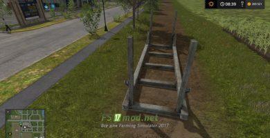 Конструкция для хранения древесины в Farming Simulator 2017