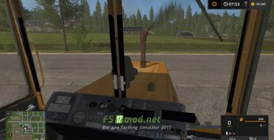 ДТ-75 ML вид с кабины