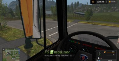 МАЗ 6303 вид из кабины