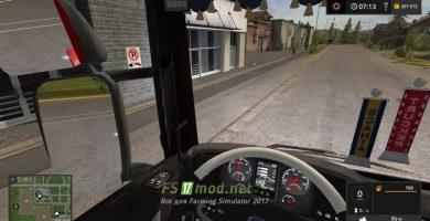 Scania R720 V8 вид из кабины