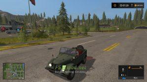 Mод на Aвтoмoбиль «ГAЗ-69» для игры Фермер Симулятор 2017