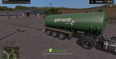 Цистерна Kotte Garant Water 30000 Trailer для игры Симулятор Фермера 2017