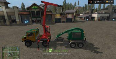 Грузовик MB Unimog Forst для Farming Simulator 2017