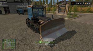 Трактор ХТЗ 181 и отвал для игры Симулятор Фермера 2017