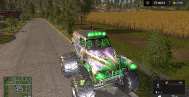Автомобиль Grave Digger для игры Симулятор Фермера 2017