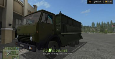 Мод на КАМАЗ 55102 для игры Фермер Симулятор 2017