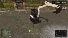 Мод на KST Bobcat Mini Excavator для игры Симулятор Фермера 2017