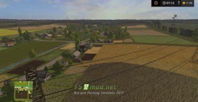Карта Сынява для игры Симулятор Фермера 2017