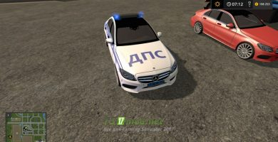 Мод на автомобиль Mercedes Benz C250 AMG для игры Фермер Симулятор 2017