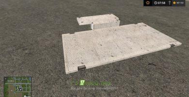 Мод на Бетонные плиты для игры Симулятор Фермера 2017