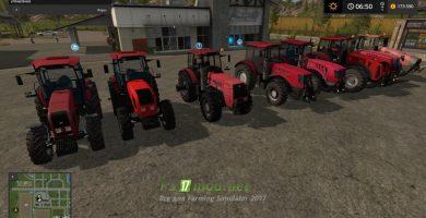 Мод Пак на трактора МТЗ-Беларус для игры Симулятор Фермера 2017