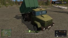 КРАЗ 6510 вид с кабины