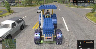 Мод на Crazy Lego Tractor для игры в Симулятор Фермера 2017