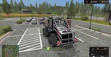 Мод на трактор Case Ih Quadtrac Forestry Addon для игры Симулятор Фермера 2017