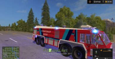 Мод на Airfield Fire Trucks для Farming Simulator 2017