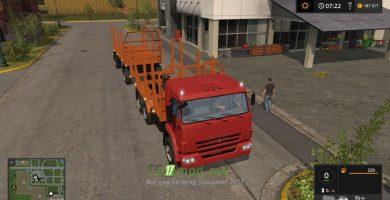 Мод на КАМАЗ-43118 Лесовоз для Farming Simulator 2017