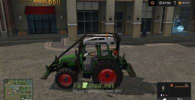 Мод на Fendt 209 Forst Edition для игры Симулятор Фермера 2017