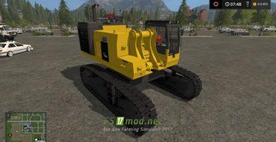 Мод на экскаватор LSMTP Komatsu PC1250 для Farming Simulator 2017