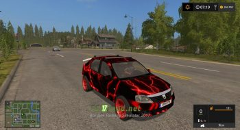 Мод на Dacia Logan Red Electric для игры FS 2017