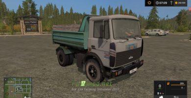 Мод на МАЗ 5551 для игры Симулятор Фермера 2017