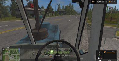 Т-150К вид с кабины
