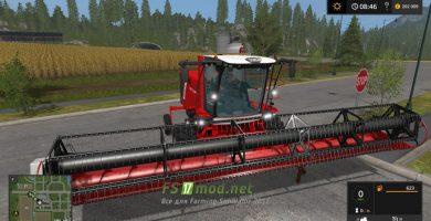 Мод на КСУ-1 Ростсельмаш для Farming Simulator 2017