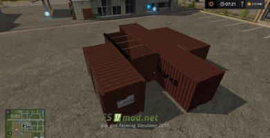 Мод на пак контейнеров для игры Симулятор Фермера 2017