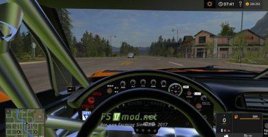 Corvette C5r Racing вид с салона