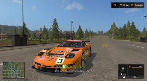 Мод на автомобиль Corvette C5r Racing для игры Симулятор Фермера 2017