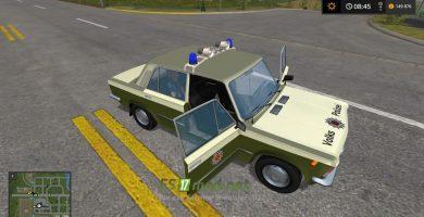 Мод на автомобиль Lada Volkspolizei для игры Фарминг Симулятор 2017