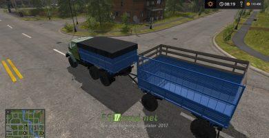Мод на грузовик ЗИЛ-4334 для игры Фарминг Симулятор 2017
